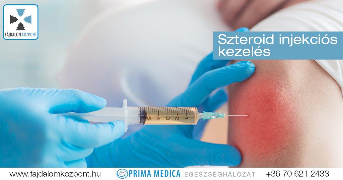 szteroid injekció a térdbe)