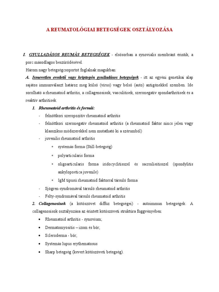 nodularis artrosis a kezek kezelésében)