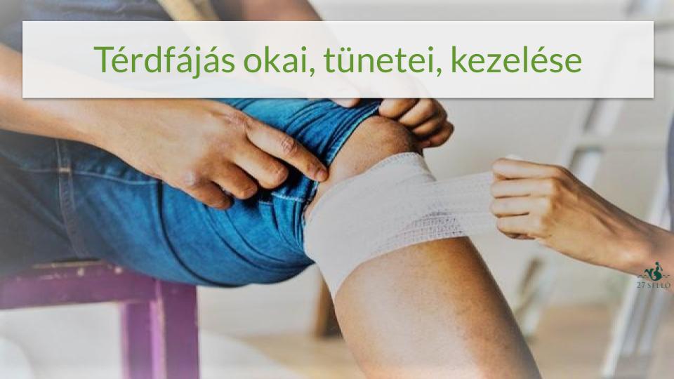fájdalom a térd közelében belül)