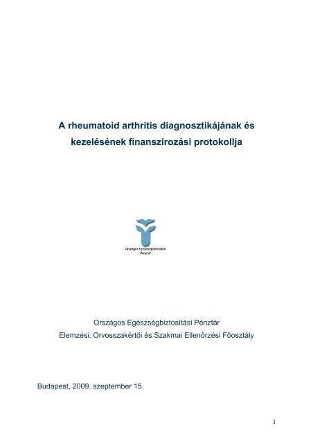 rheumatoid arthritis, mint a kezelt